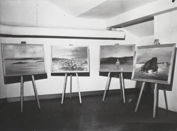Sidney Nolan, 4 of 12 Fraser Island paintings exhibited at The Moreton Galleries, Brisbane, 17-28 February 1948.