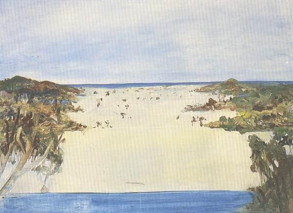 """Lake Wabby"", Sidney Nolan, 1947, Heide Museum of Modern Art collection"
