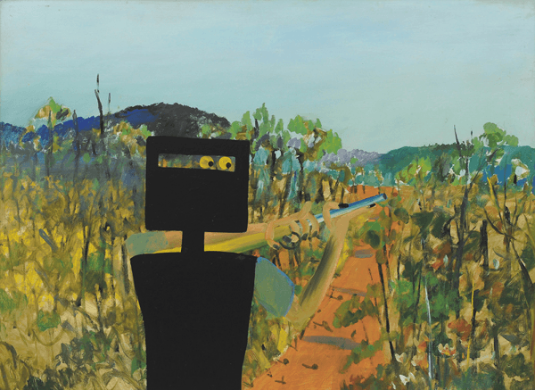 """First Class Marksman"", December 1946, Sidney Nolan, AGNSW collection."