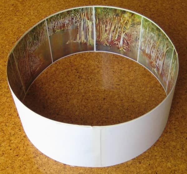 "Simulated Praxinoscope strip of Sidney Nolan's ""Riverbend"""