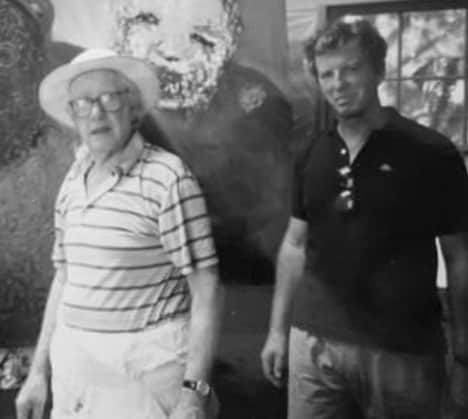 Sidney Nolan and Brian Adams at Bundanon, c. 1986