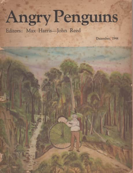 """Angry Penguins"" No. 7, December 1944, with cover painting ""by H.D. an Unknown Australian Primitive"""