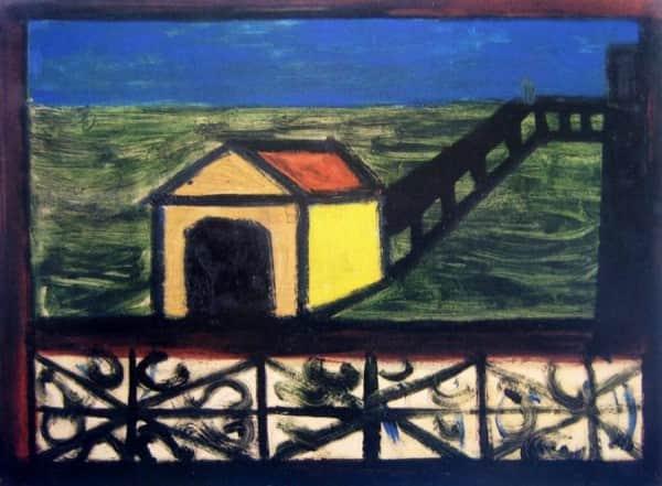 """Sidney Nolan, """"St Kilda Pier"""", c. 1940"""