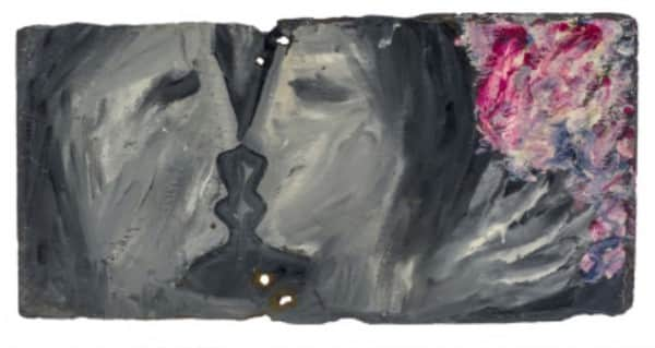 Sidney Nolan, painting on slate, untitled, c. 1942, UQ Art Museum collection