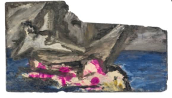 Sidney Nolan, painting on slate, untitled (Icarus), 22 Jan 1942, UQ Art Museum collection