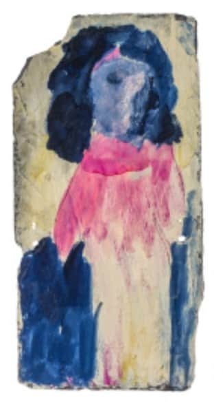 Sidney Nolan, painting on slate, untitled, 12 Dec 1941, UQ Art Museum collection
