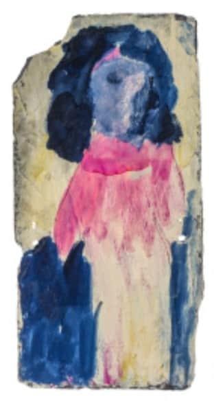 Sidney Nolan, painting on slate, untitled, 12 Dec 1941, UQ Art Museum collection