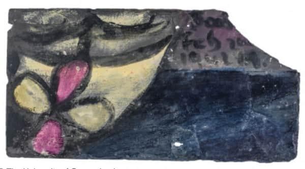 "Sidney Nolan, painting on slate, ""Boat"", 2 Feb 1942, UQ Art Museum collection"