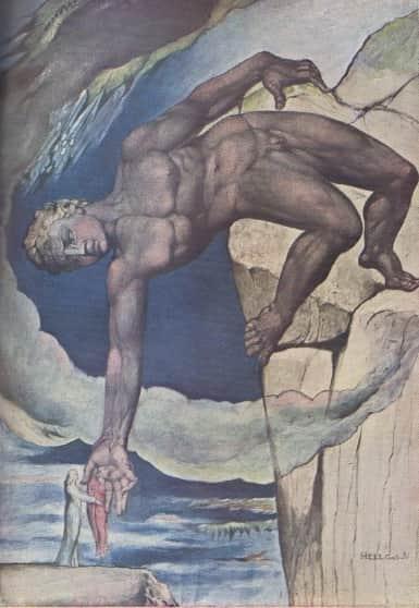 William Blake, Asteaus sitting down Dante and Virgil, reproduced in 'Art in Australia', Mar 1941, p. 39