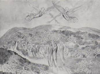 William Blake, images of angels reproduced in 'Art in Australia', Mar 1941, p. 38