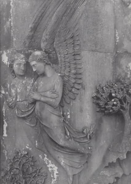"""14th century bas-relief angels in Orvieto cathedral, """"Art in Australia"""", December 1941, p. 47"""