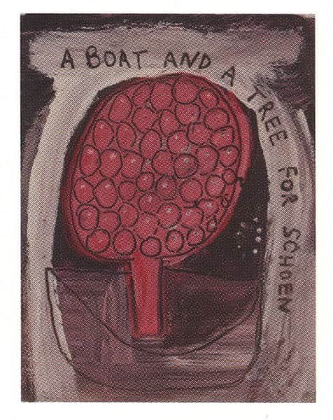 """Sidney Nolan, """"A Boat and a Tree for Schoen"""", c. 1941"""