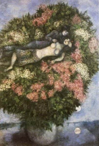 "Marc Chagall, ""Lovers in the Lilacs"", 1930"