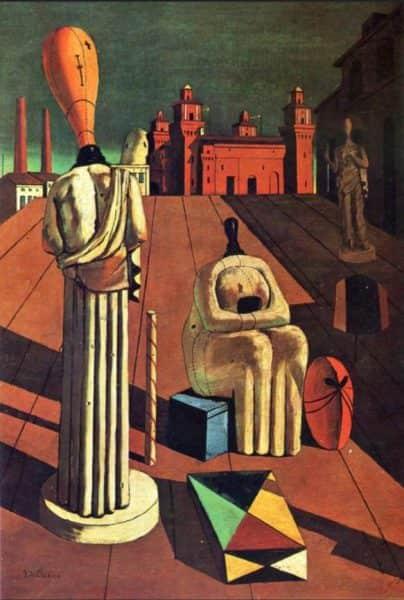 "Giorgio de Chirico, ""The Disquieting Muses"", 1918"