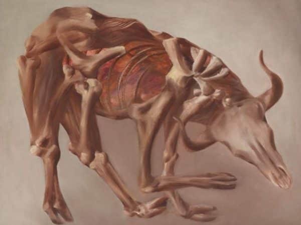 """Sidney Nolan, """"Drought Skeleton"""", 1953, collection AGNSW"""